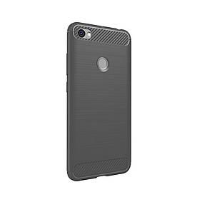 Чехол накладка для Xiaomi Redmi Note 5A Prime силиконовый IPAKY, Carbon Fibre, серый