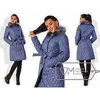 Пальто женское плащевка синтепон  №159