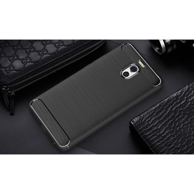 чехол накладка Meizu M6 Note Carbon Fiber черный