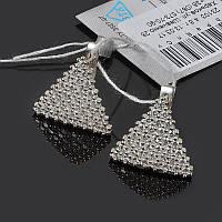 Серебряные серьги Треугольнички, фото 1
