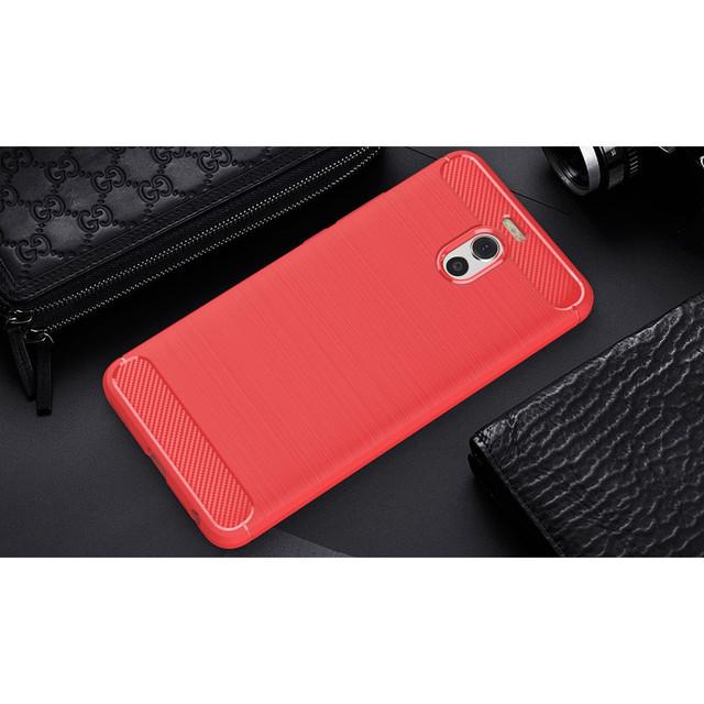 чехол накладка Meizu M6 Note Carbon Fiber красный