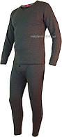 Мужской комплект термобелья батального размера 4XL с начесом серого цвета