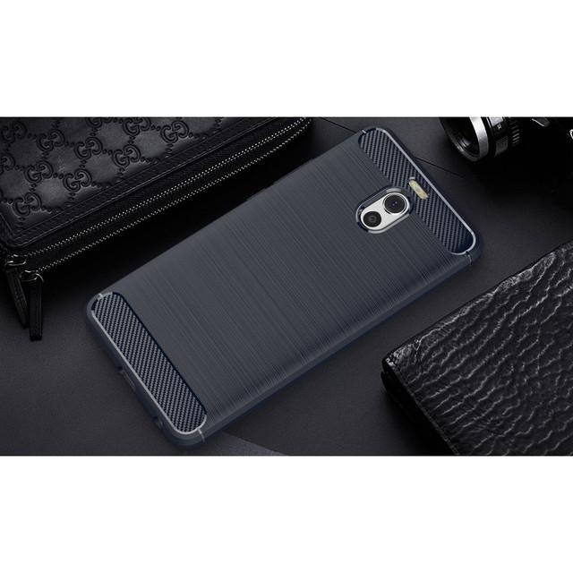 чехол накладка Meizu M6 Note Carbon Fiber темно-синий