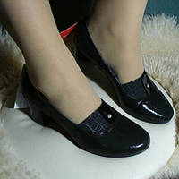 Туфли женские сатин 37р (натуральная кожа и сатин)