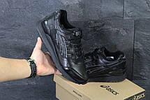 Кроссовки мужские Asics GEL LYTE III кожаные,черные, фото 3