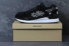 Кроссовки мужские Asics GEL LYTE III замшевые,черно-белые, фото 3