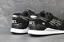 Кроссовки мужские Asics GEL LYTE III замшевые,черно-белые, фото 2