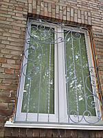 Решетки на окна кованые арт кр № 57