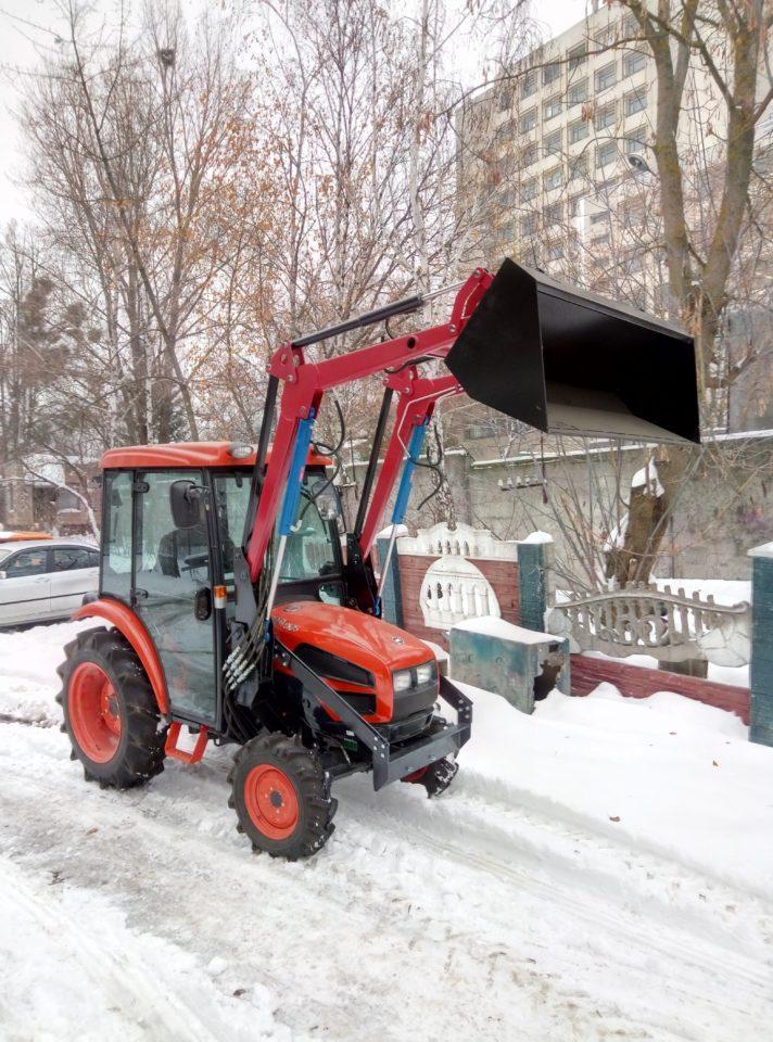 """Фронтальный погрузчик для МТЗ-80 """"Агромет-Сервис"""""""