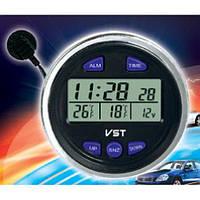 Автомобильные часы VST-7042V в классику. Термометр, вольтметр для автомобиля. Высокое качество. Код: КДН2740