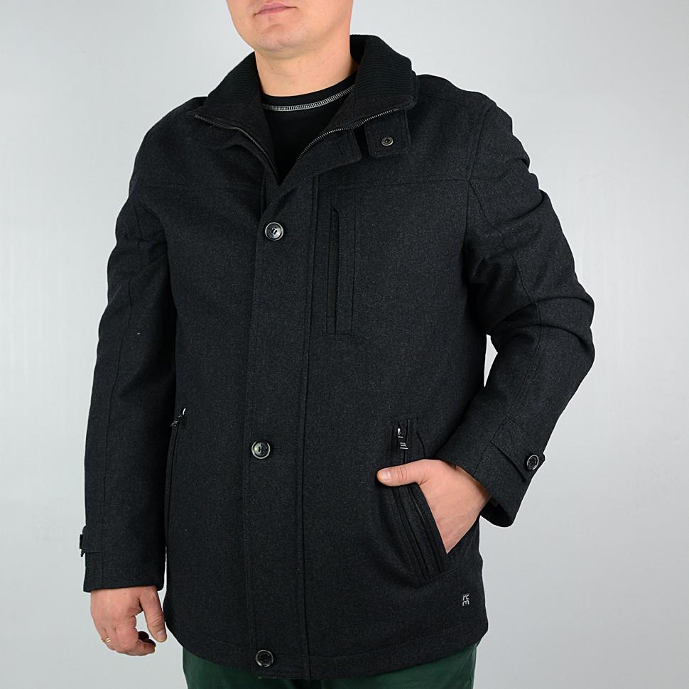 Зимние мужское пальто JUPITER темно серого цвета р-46