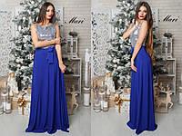 Платье макси в пол c верхом из пайеток разные цвета 2SMmil951