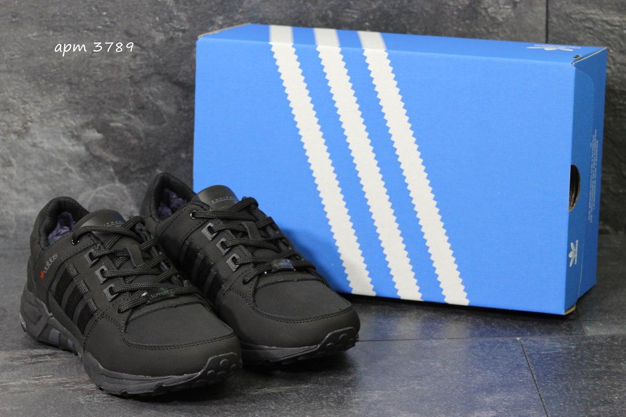 Зимние кроссовки Adidas Equipment ,нубук,черные