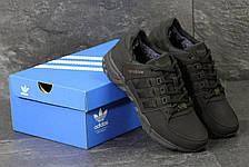 Зимние кроссовки Adidas Equipment ,нубук,черные, фото 2
