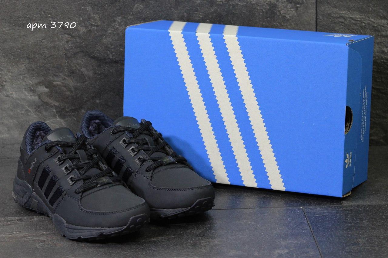 Зимние кроссовки Adidas Equipment ,нубук,темно синие