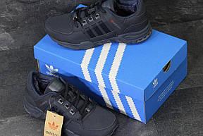 Зимние кроссовки Adidas Equipment ,нубук,темно синие, фото 3