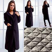 Женское кашемировое пальто на подкладке синтепон 100, фото 1
