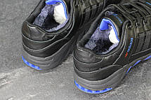 Зимние кроссовки Adidas Equipment кожаные,черные с синим, фото 3