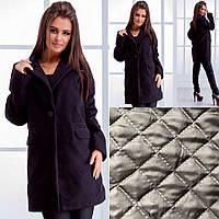 Женское кашемировое пальто на подкладке с одной пуговкой, фото 1