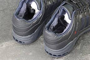 Зимние кроссовки Adidas Equipment кожаные,темно синие, фото 3