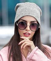 Женская шапка из ангоры серая 013, фото 1