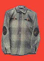 Стильная кашемировая рубашка в клетку на мальчиков 134,158 роста