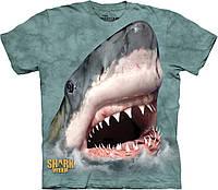 3D футболка мужская The Mountain р.M 52 RU футболки мужские с 3д принтом рисунком (Челюсти Акулы)