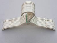 Плечики детские пластмассовые DTI255 цвета слоновой кости, 30 см, 10 штук в упаковке