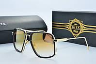 Солнцезащитные очки квадратные Dita Von золотые