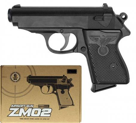 Игрушечный Пистолет Вальтер ПП ZM02 металлический, фото 2