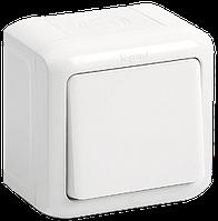 Выключатель 10 А IP44, белый, Legrand Quteo, 782300