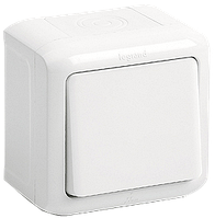 Переключатель на 2 напр (выключатель проходной) 10 А IP44, белый, Legrand Quteo, 782304