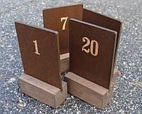 """Табличка деревянная, """"Номерок стола"""""""