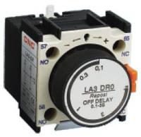 Блок контакт выдержки времени LA3-DR4, 10 сек. - 180 сек., задержка на выключение, NO + NC, CNC