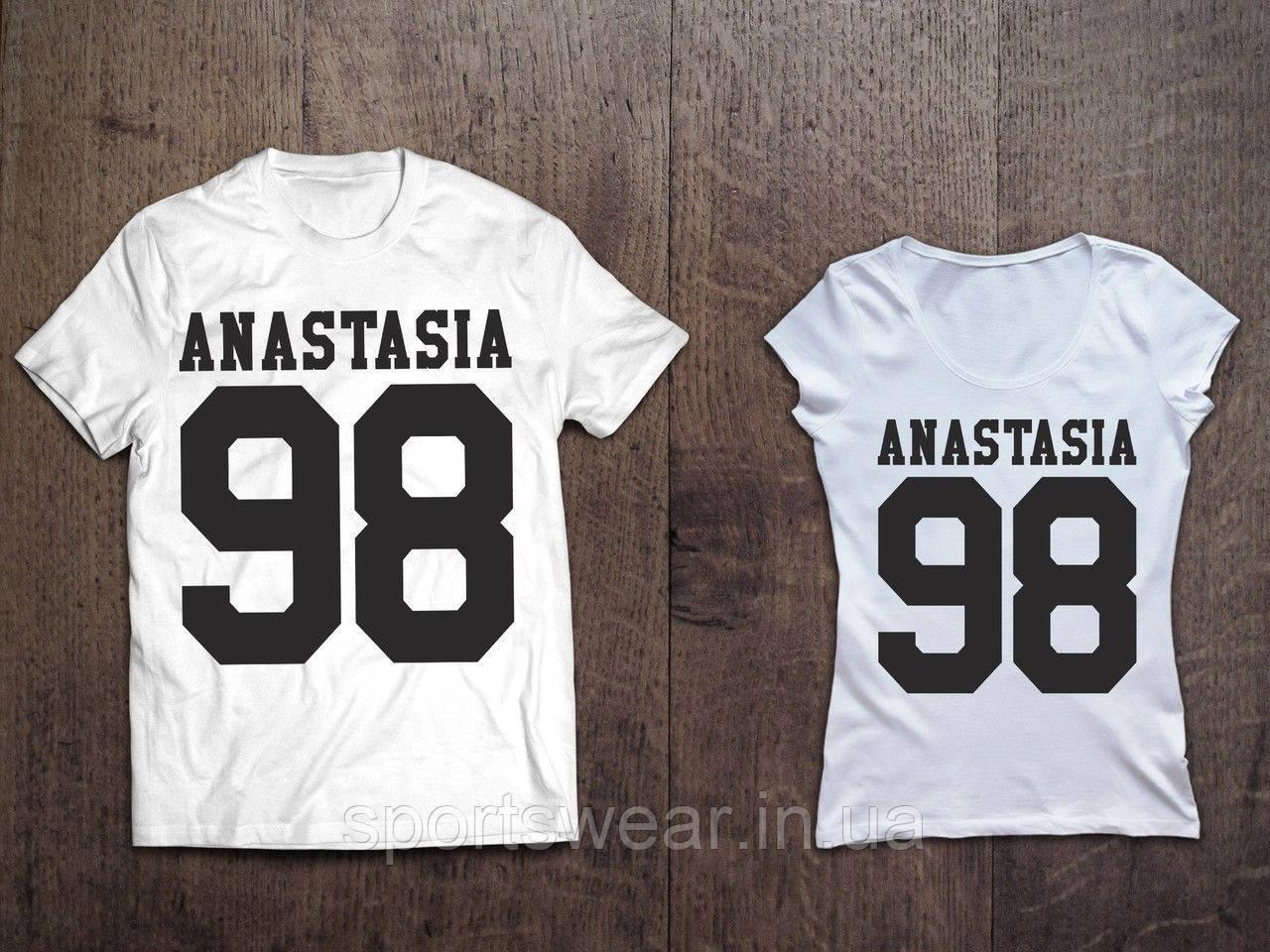 6bf50500cdfa0 Парные именные футболки ( Все ЦВЕТА ) №40 , цена 479 грн., купить в Днепре  — Prom.ua (ID#618501808)