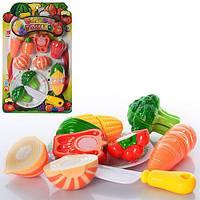 Продукти 614B овочі, на липучці, тарілка, ніж, лист, 22-36-3 см.