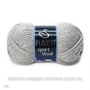 Пряжа Nako Sport Wool Серый