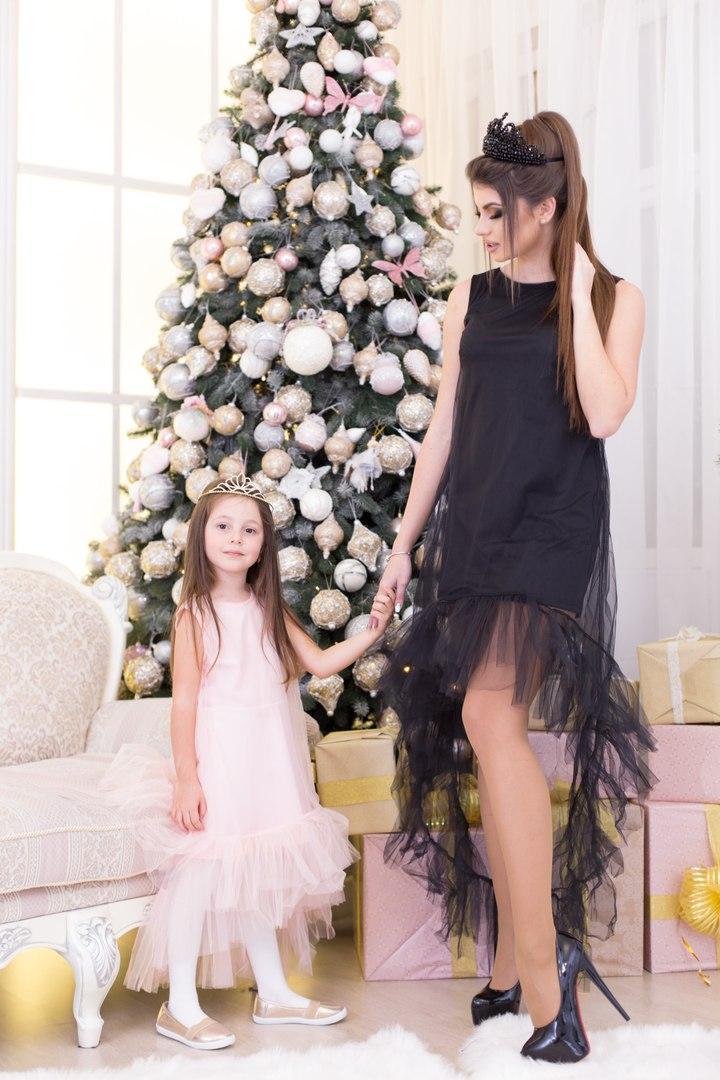704ea07b084 Красивое вечернее платье для девочки (мама+дочка) - Интернет-магазин
