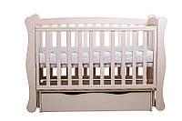 """Детская кроватка  Angelo Lux-1 Цвет """"слоновая кость"""""""