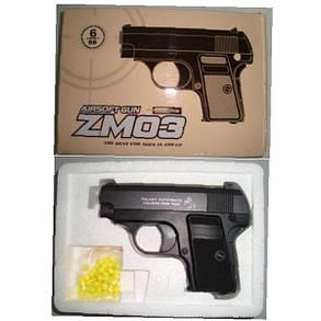 Іграшкова зброя Пістолет ZM03 металевий, фото 2