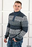 Мужской свитер Амадей планка синий