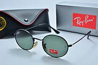 Солнцезащитные очки овальные Rb черные, фото 1