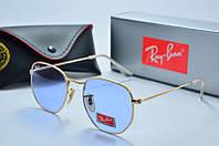 Солнцезащитные очки круглые Rb голубые, фото 1