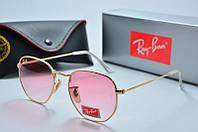Солнцезащитные очки круглые Rb розовые, фото 1