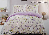 Сатиновое постельное белье евро ELWAY 5054