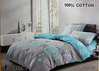 Сатиновое постельное белье евро ELWAY 5058