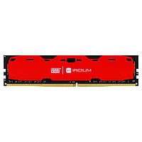 Память 4Gb DDR4, 2400 MHz, Goodram Iridium Red, 15-15-15, 1.2V, с радиатором (IR-R2400D464L15S/4G)