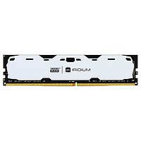 Память 4Gb DDR4, 2400 MHz, Goodram Iridium White, 15-15-15, 1.2V, с радиатором (IR-W2400D464L15S/4G)