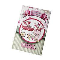 Кожаная обложка для свидетельства о рождении девочки