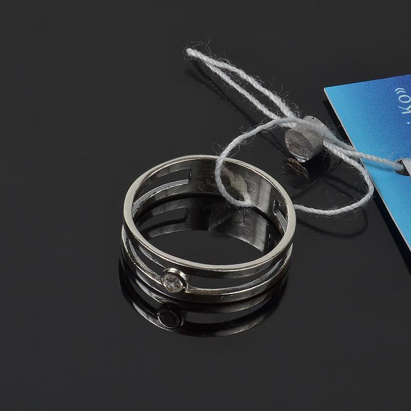 Серебряное кольцо с фианитом маленький размер